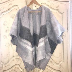 Aerie super soft cozy blend poncho sweater OS Grey